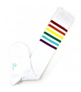 ساق بلند 6 خط رنگی سفید